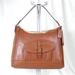 💕Coach Charlie Hobe Brown Leather Shoulder Bag